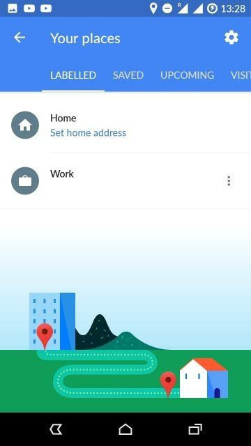 google maps home address