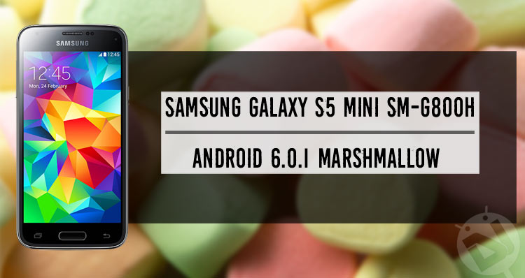 Update Galaxy S5 Mini to Android Marshmallow (SM-G800H