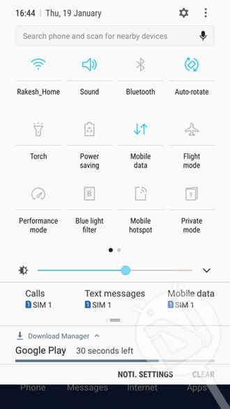 s7 edge nougat quick settings