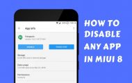 Disable Any App on MIUI 8