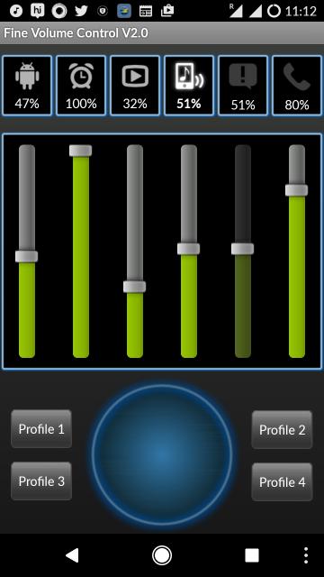 fine volume control