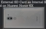 Use External SD Card as Internal SD Card on Huawei Honor 6X