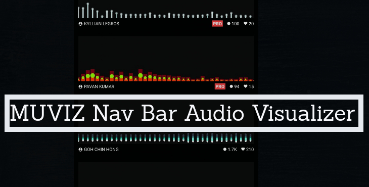 MUVIZ Nav Bar Audio Visualizer