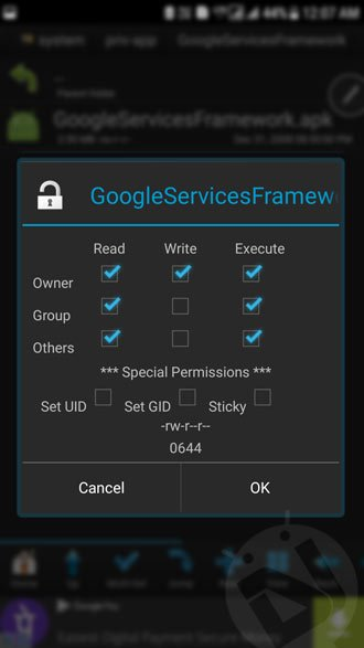 set app permissions android