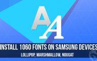 samsung fonts apk installation