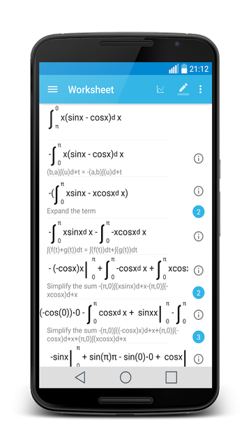 MalMath android app worksheet
