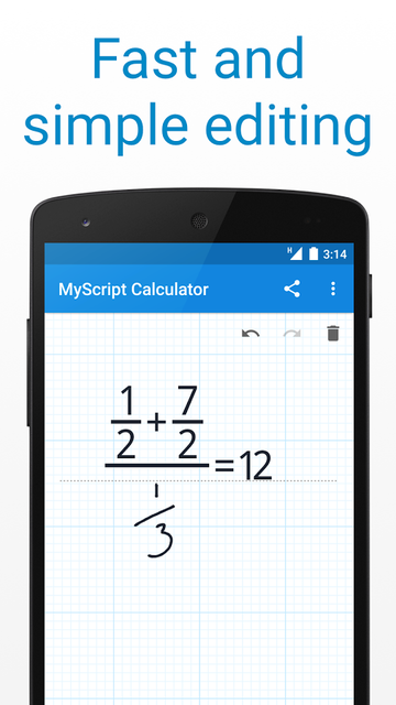 MyScript Calculator editing feature