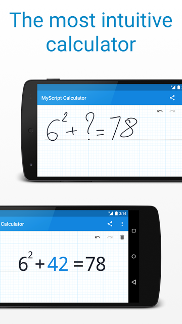 MyScript maths Calculator