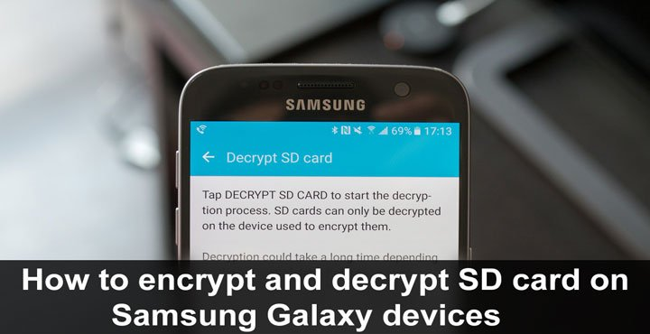 How to Encrypt and Decrypt SD Card on Samsung Galaxy Devices