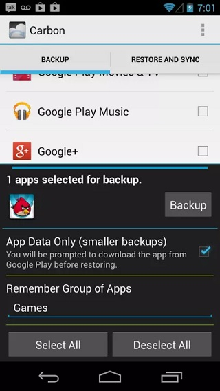 Helium Backup App