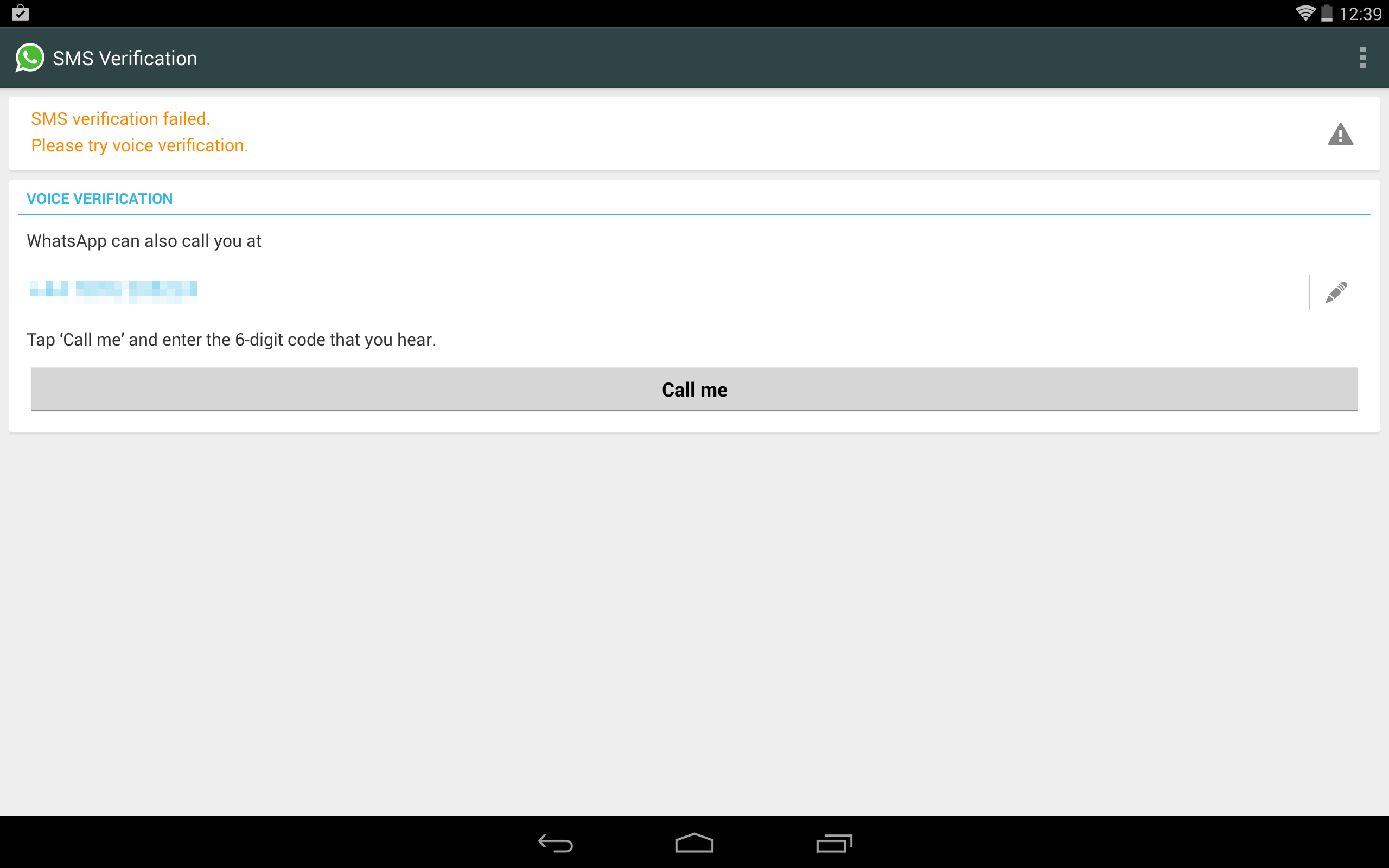 Install WhatsApp on Tablet Devices