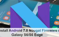 Android 7.0 Nougat Galaxy S6 Edge