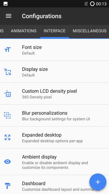 Resurrection Remix UI settings