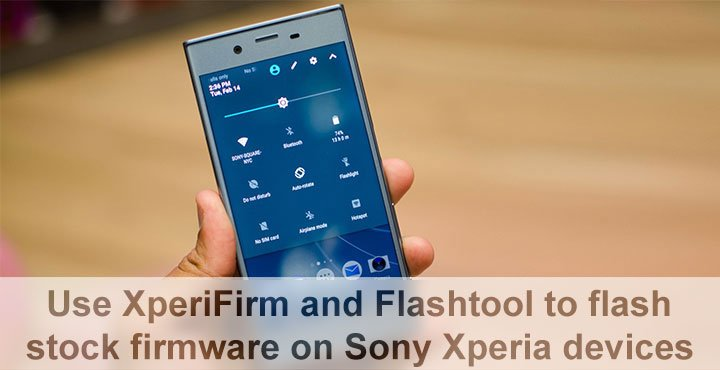 Install Stock Firmware on Sony Xperia Devices Using XperiFirm and Flashtool