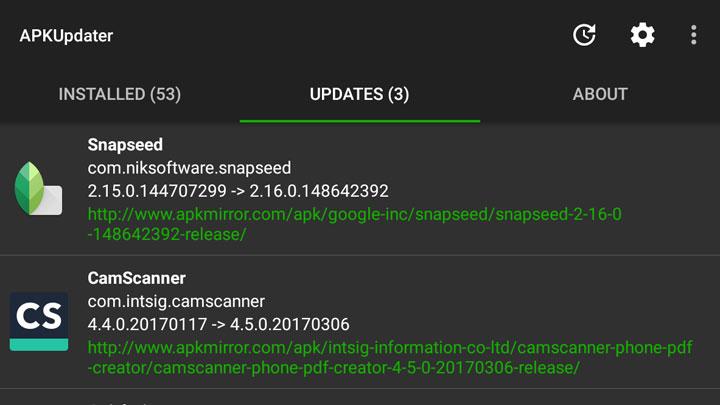 Update Sideloaded APKs
