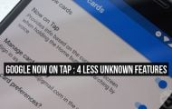Google Now on Tap Features
