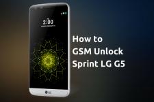 Unlock Sprint LG G5