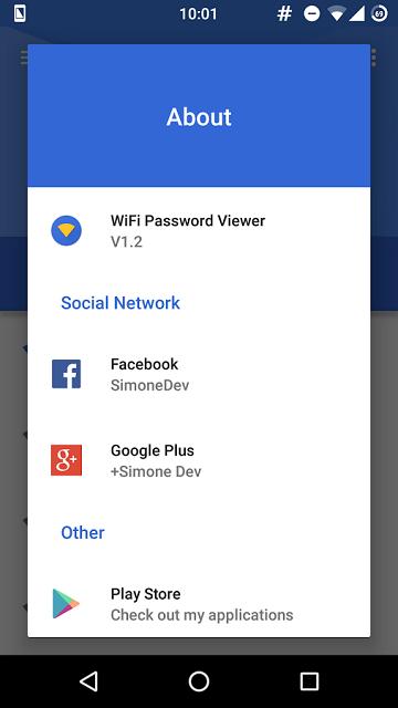 wiifi-password about app screen
