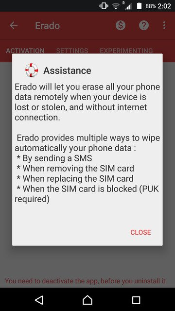 erase android phone data without internet