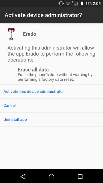 erado administrator permission