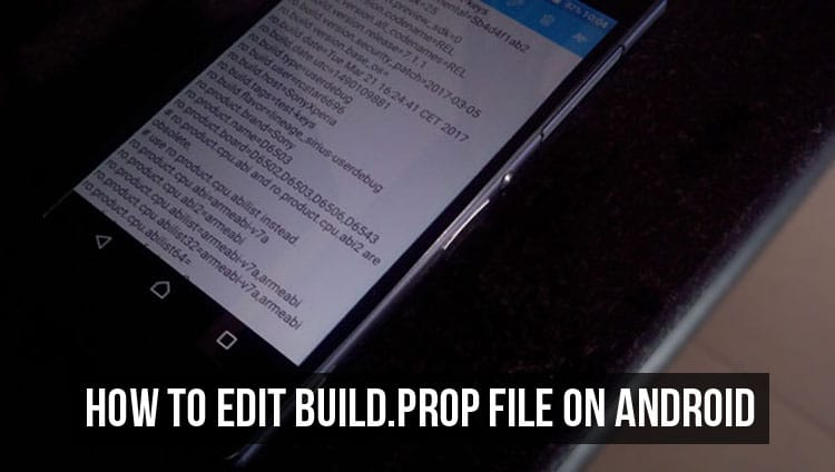 edit build prop android