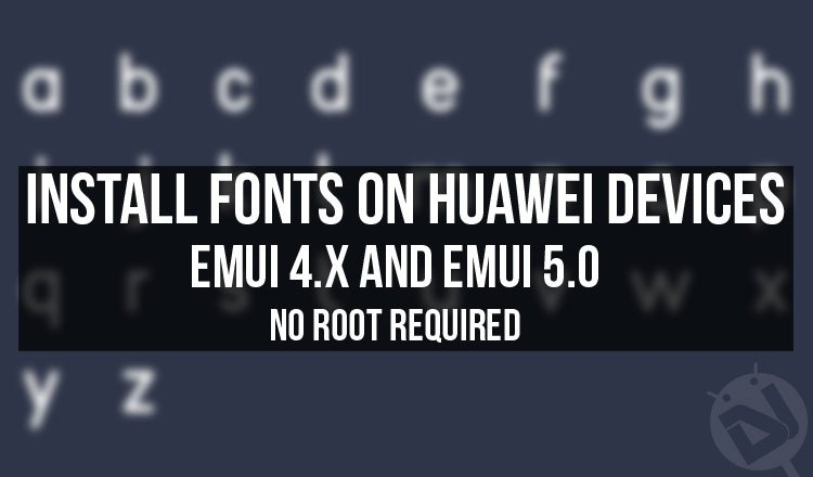download fonts for huawei