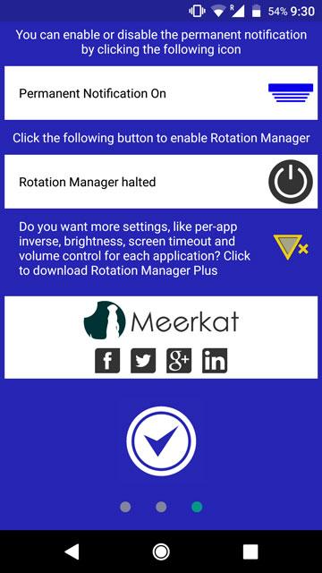 manage individual app rotations