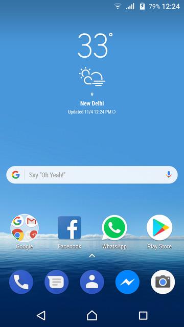 Galaxy S8 weather widget