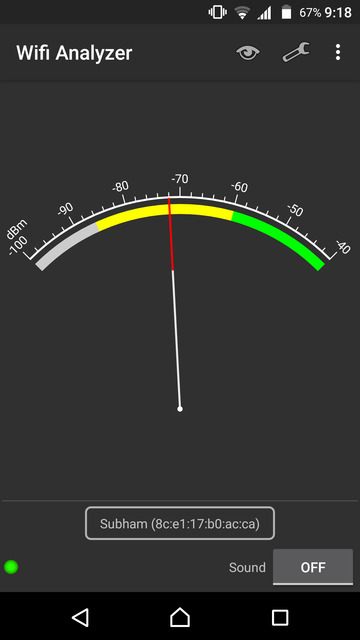 WiFi connectivity analyzer
