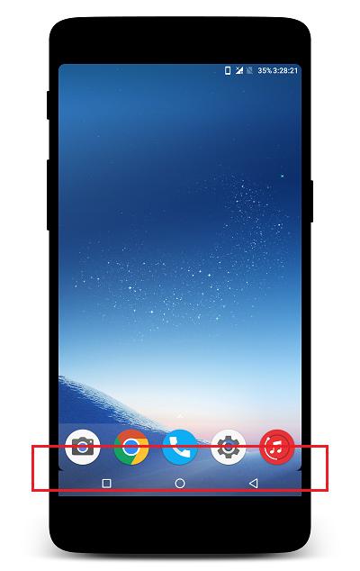 android nav bar overlay