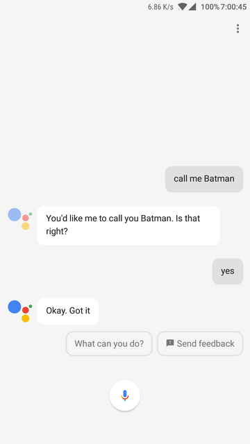 set you name in assistant