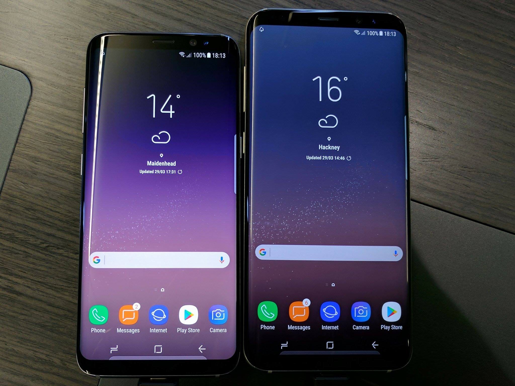 The Galaxy S8 and S8+