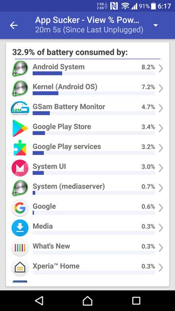 monitor battery usage