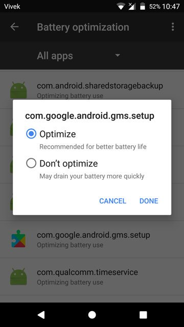 Fix Google Play Services Battery Drain