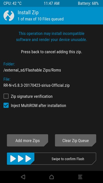 install optiion twrp