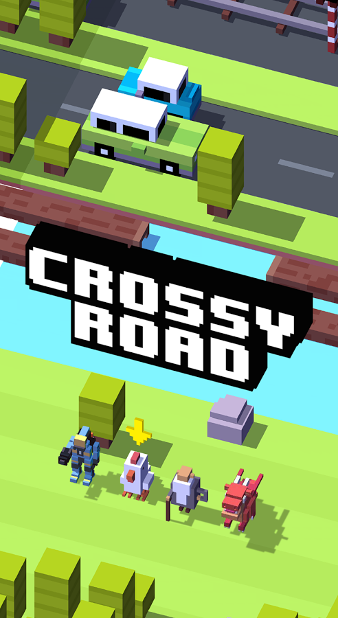 crossy road addictive game