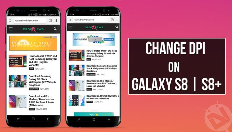 Change DPI on Samsung Galaxy S8 and S8+ [No root required] | DroidViews