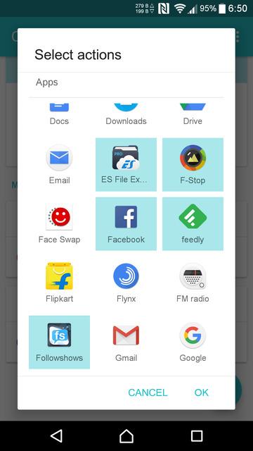contextual app folder