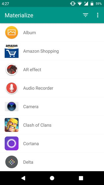 Materialize all app icons on Android