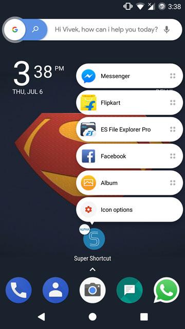 Super Shortcut re-imagines the use of app shortcuts