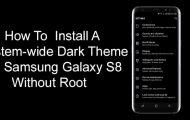 Samsung Galaxy S8 - Install Systemwide Dark Theme - Droid Views