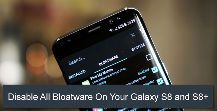 Bloatware on Galaxy S8