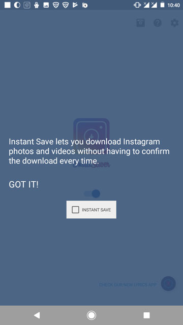 instagram video and photo saving feature