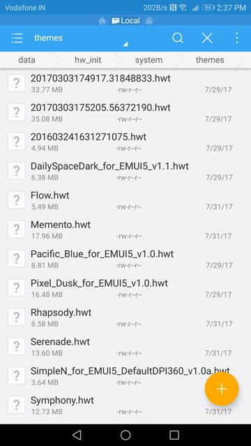 Fix EMUI 5 Themes App After Unlocking Bootloader