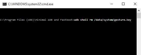 adb shell gesture.key