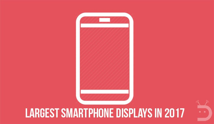 Largest Smartphone Displays in 2017