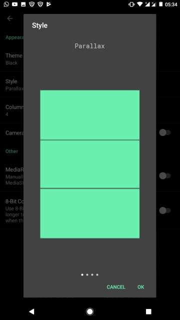 camera roll gallery app styles