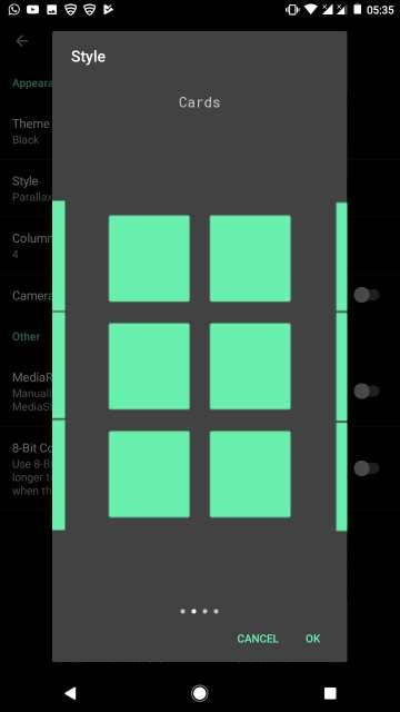 camera roll gallery grid