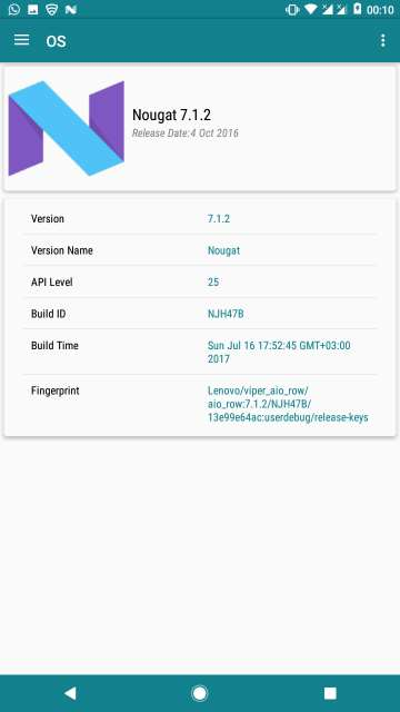 my device app software information
