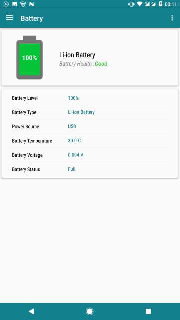 my device app battery details